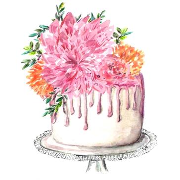 Ilustración para logo P Delicias